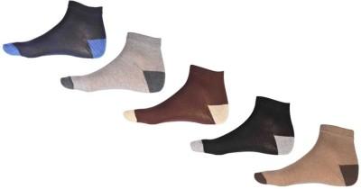 Ezzi Feet Men's Solid Ankle Length Socks