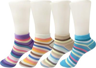 Stylefolio Girls, Womens Striped Ankle Length Socks