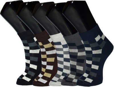 Crux&Hunter Men's Printed Ankle Length Socks