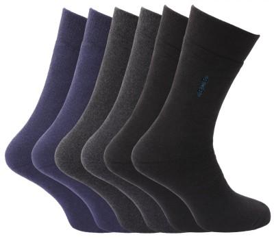 Softoe Men's Solid Mid-calf Length Socks