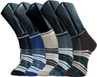 Gen Mens Printed Ankle Length Socks(Pack of 5)