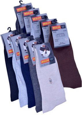 NEULON Men's Solid Crew Length Socks