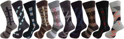 Royal Class Men's Self Design Crew Length Socks