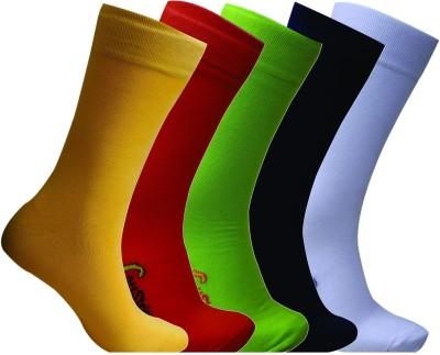 Cottstrings Men's Solid Mid-calf Length Socks