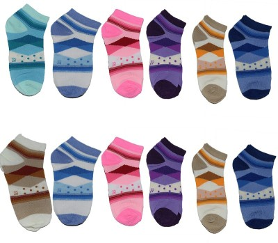 Ishaya Stores Women's Printed Ankle Length Socks