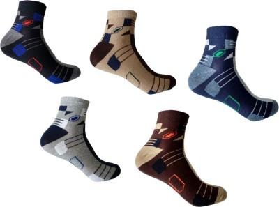 Roselon Mens Self Design Crew Length Socks