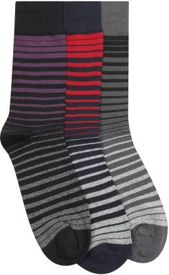 Alvaro Men's Striped Crew Length Socks