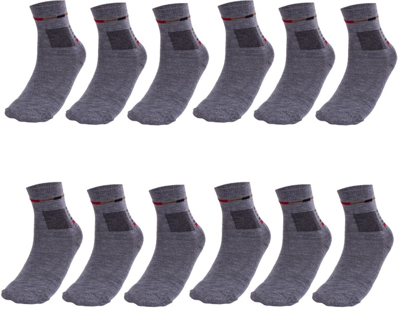 Maccaino Men's Solid Ankle Length Socks