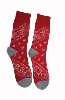 69th Avenue Men's Geometric Print Mid-calf Length Socks
