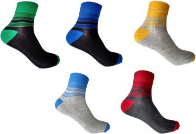 Roselon Mens Self Design Crew Length Socks