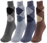 Marc Men's Solid Ankle Length Socks (Pac...