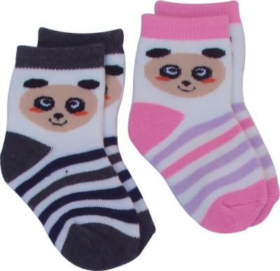 Happiesta Baby Girl's Printed Ankle Length Socks