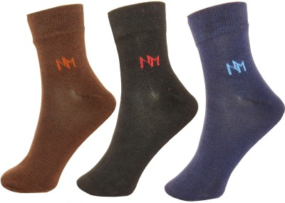 Neska Moda Mens Solid Ankle Length Socks