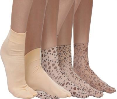 TeeMoods Women's Printed Ankle Length Socks