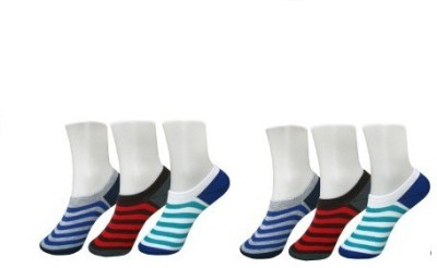 Killys Men's Striped No Show Socks