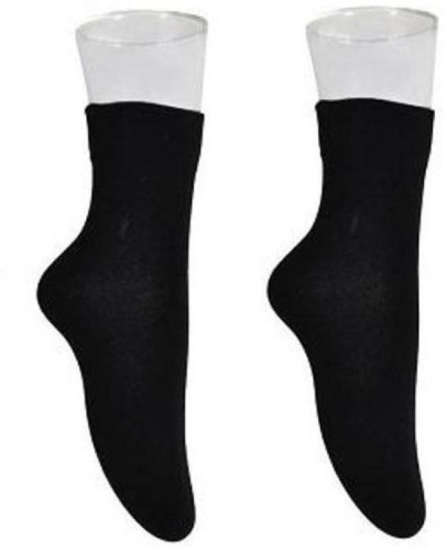 Nxt 2 Skn Women's Solid Crew Length Socks(Pack of 2)