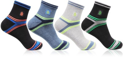 Bonjour Mens Self Design Ankle Length Socks