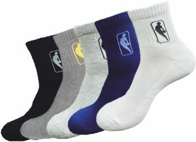 NBA Men's Printed Ankle Length Socks