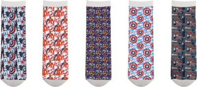 Marvel Men's Printed Mid-calf Length Socks
