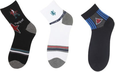 Klair Men's Solid Ankle Length Socks