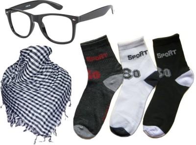 GINWALA Men,s, Boy,s Solid Ankle Length Socks
