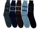 Gen Men's Solid Crew Length Socks (Pack ...