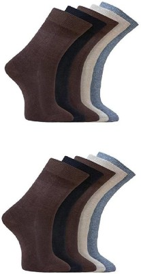 OshopTrades Men's Self Design Mid-calf Length Socks