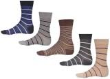 Ezzi Feet Men's Striped Crew Length Sock...