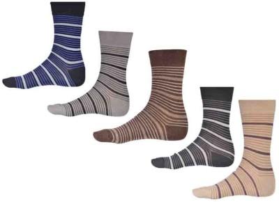 Ezzi Feet Men's Striped Crew Length Socks