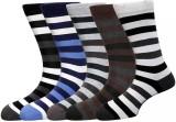 Lefjord Men's Striped Crew Length Socks