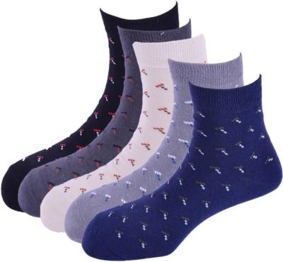 Calzini Men's Floral Print Crew Length Socks