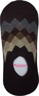 Miscreef Men's Geometric Print No Show Socks