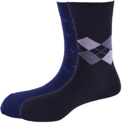 Hush Puppies Men's Geometric Print Crew Length Socks