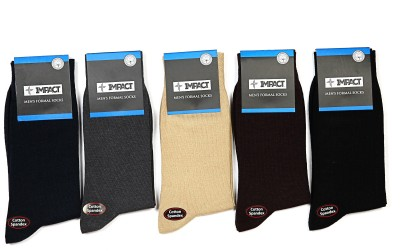 POSITIVE IMPACT Men's Solid Mid-calf Length Socks