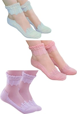 Visach Women's Self Design Ankle Length Socks