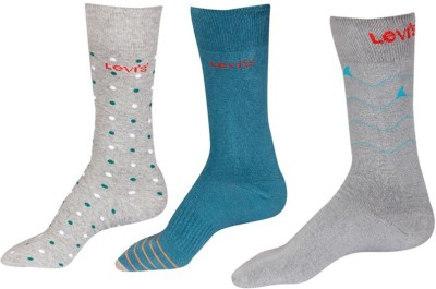 Levi's Men's Printed Crew Length Socks