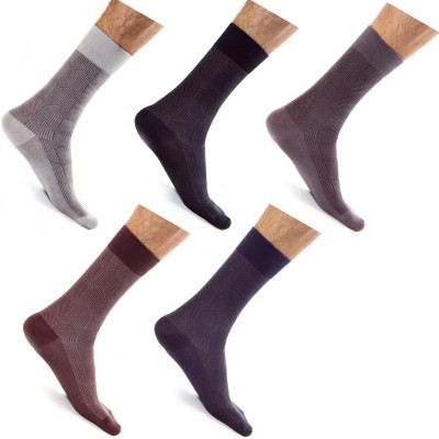 Roselon Men's Embriodered Mid-calf Length Socks