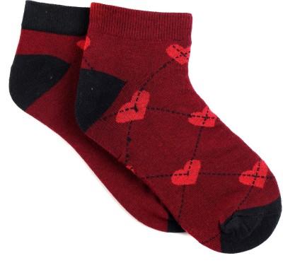 Renzer Women's Polka Print Ankle Length Socks