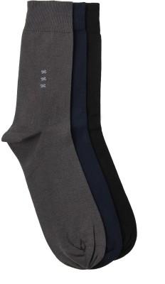 Alvaro Men's Solid Crew Length Socks