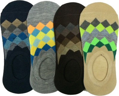 Narang Sons Men,s Geometric Print No Show Socks