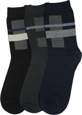 Narang Sons Men,s Self Design Crew Length Socks