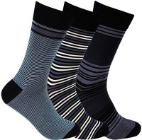 Supersox Mens Striped Crew Length Socks(Pack of 3)