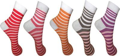 AOV Women's Floral Print Ankle Length Socks