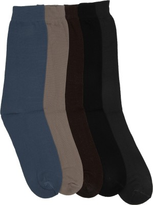 Mikado Contemporary Grace Men's Solid Crew Length Socks