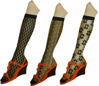 Page3 Girl's Floral Print Knee Length Socks