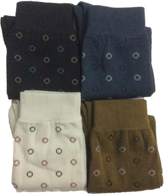 Gentle Men's Printed Crew Length Socks