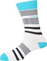 Pinellii Mens Striped Crew Length Socks