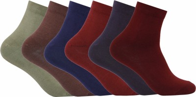 Supersox Mens Solid Ankle Length Socks(Pack of 6)
