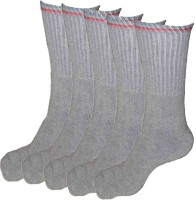 Alfa Runner Mens Striped Crew Length Socks(Pack of 5)
