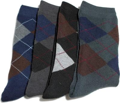 Icable Men's Checkered Crew Length Socks